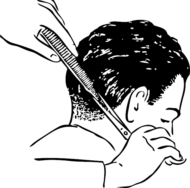 стрижка мужчины