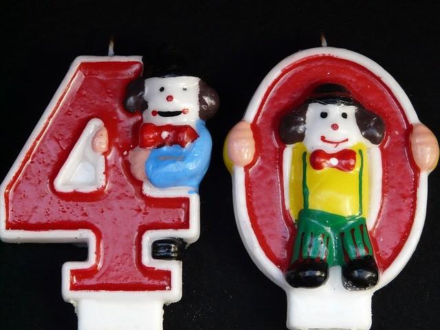 40 лет и фигурки клоунов