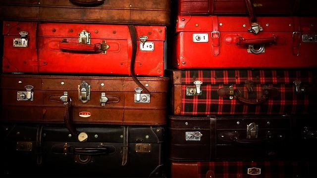 сложенные чемоданы