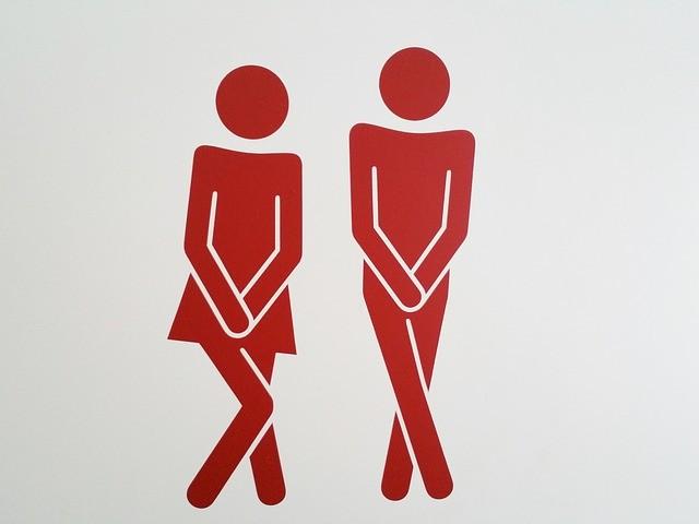 знак туалета, мужчина и женщина