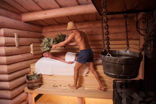 парилка в русской бане