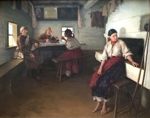 мужчины и женщина за столом